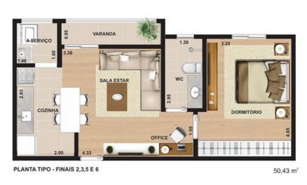 Lindo apartamento novo, com 50m², 01 dormitório, sala com varanda, cozinha, banheiro, área de serviço, 1 vaga de garagem coberta. O edifício conta com área de lazer com piscina, salão de festas, sauna e espaço gourmet, ótima localização. Não aceita financiamento e FGTS.