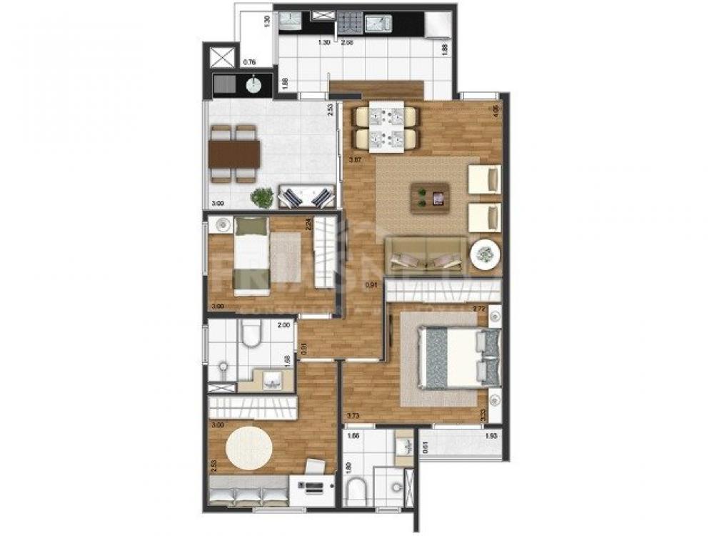 Excelente apartamento contendo sala 2 ambientes integrada com varanda gourmet, 3 dormitórios completos de armários sendo 1 suíte, cozinha planejada tipo americana, banheiro social completo, área de serviços e 2 vagas de garagem. Condomínio oferece piscina, salão de festas com espaço gourmet, espaço kids e sala fitness. Próximo ao Fórum, ao Empório do Vovô, Supermercado Oba, Droga Raia etc. Aceita financiamento e FGTS.  Estuda permuta com terreno em condomínio fechado.