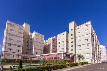 Apartamento próximo a Faculdade Anhanguera com 55m² contendo sala, 02 dormitórios sendo 01 com armário embutido, cozinha planejada, área de serviço, banheiro social com gabinete e box. 01 vaga de garagem. Condomínio oferece portaria 24hrs, piscina, playground, salão de festas.