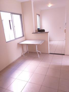 Apartamento medindo 45 m² de área útil, com sala, 2 dormitórios, banheiro, área de serviço e 1 vaga. O condomínio possui churrasqueira, salão de festas, campo de futebol e playground.