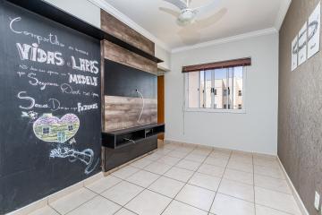 Apartamento com 2 dormitórios, sendo 1 com armário, sala com rack, cozinha com armários, banheiros social e 1 vaga de garagem.  Aceita Financiamento e FGTS.